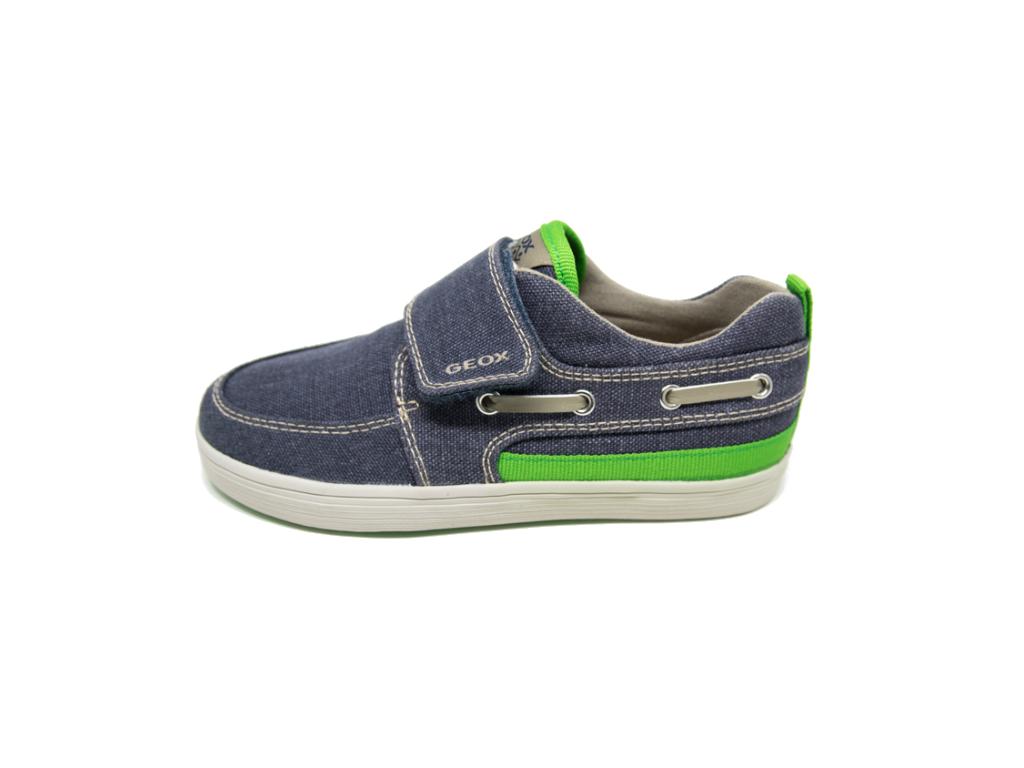 fc74f8a8217 Πάνινα μοκασίνια GEOX J52A7G Μπλέ | Patousaki Παιδικά Παπούτσια