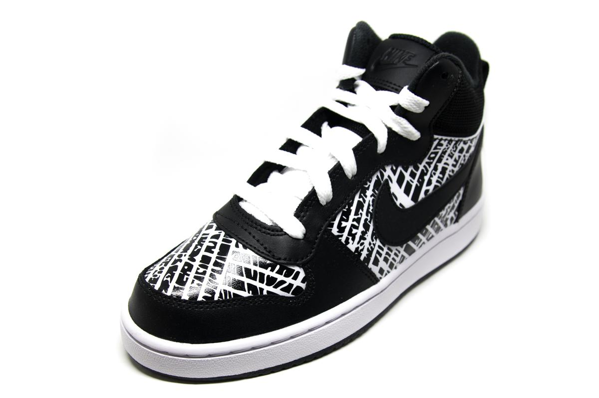 83878aa14c9 Nike Court Borough Mid PRNT GS 845102 003 μαύρο   Patousaki Παιδικά ...